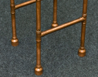Wooden & Copper stool