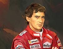 Ayrton Senna (vector portrait)