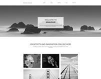 Analogue Creative Agency Portfolio Website Concept