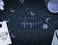 Moonlight Magic Vector Graphics