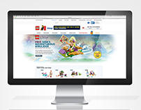 LEGO Shop Landing Pages & Mainstages
