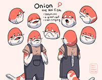 koi fish character design