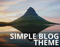 Simple Blog Theme | FREE PSD