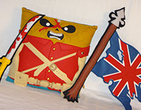 Handmade Iron Maiden Eddie The Trooper v1.43 Pillow