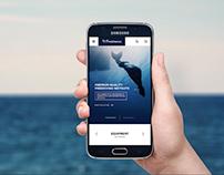 FREEDIVING Online Shop UI