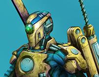Character Design: Scifi Excavation Bot (2018)