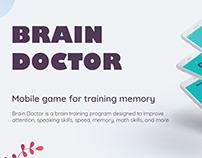 Mobile game for training memory Brain Doctor