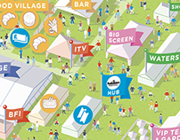 Radio Times Festival visitor map