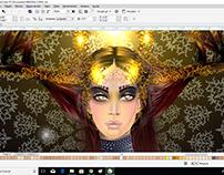 Mandala. Ilust. Corel Draw 2017