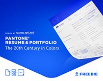 PANTONE® 20thCentury Free Resume & Portfolio Template