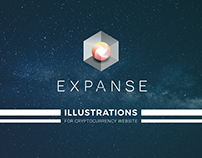 Expanse - Illustrations for Cryptocurrency Website
