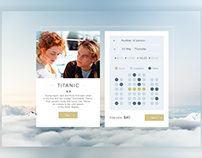 UI-kit process of bying movie ticket