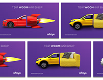 Advertising campaign for WOOM USA cars