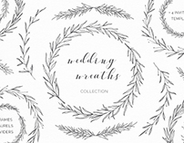 Hand drawn wreaths and laurels collection