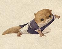 水獭武侠系列人设 Kung Fu Otter Character design