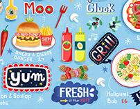 'BABS Restaurant Glasgow Children's Menu Illustration