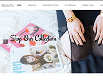 Mint and Co. Accessories' e-commerce site