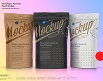 Three Paper Doy-PackPouch Mockup