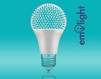 Package design for light bulbs Emilight