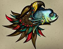 Aztec Eagle & fish
