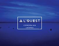 Logo - identité visuelle : A L'OUEST Coworking Lacanau
