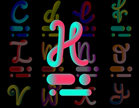 3D ABC letters