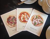 Pizza22cm. Promo-postcards