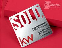 Square Stainless Steel Metal Business Card