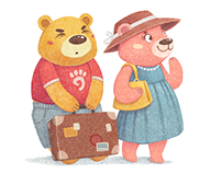 Happy Bears Illustrations