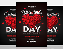 Valentine's Day Party Flyer A5 Template