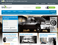 Light truck SUV landing page for TireBuyer
