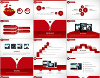 Best Red business Design PowerPoint templates