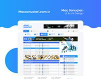 macsonuclari.com.tr UI/UX Design