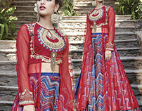 Long Designer Party Wear Indo-Western Dresses Suits