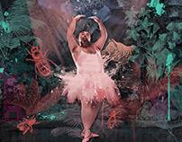 Fat Dancer - wallpaper design