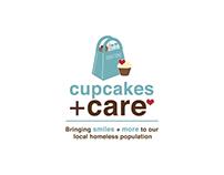 Cupcakes + Care Logo, Mailer