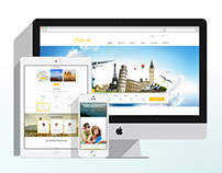 PSD/HTML - Suiren - Travel Website Design Concept