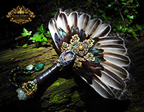 THE GREEN KNIGHT Turkey Feather Ritual Fan