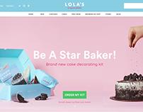 Web Design - Lola's Cupcakes landing page redesign