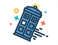 Outline Doctor Who Icons