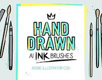 Ink brushes for Adobe Illustrator.
