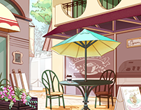 Modern Cafe Background