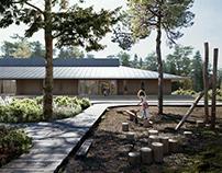 Lagmansgården School Architectural Visualization