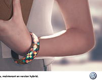 Ad for Volkswagen coccinelle hybrid