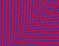 FREE Vector: Hypnotic Red and Blue Dot Pattern