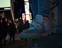 Yeezy in Times Square