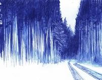 Éloge des forêts depuis la vitre d'un wagon