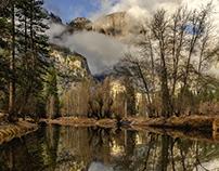 Shrouded Upper Yosemite Falls