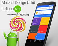 Lollipop Contact Dialer Material UI App Mockup PSD