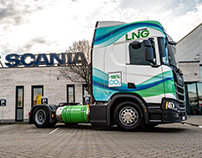 Graphic design on Scania truck